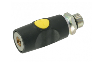 Safety push-button coupling with external thread ORION