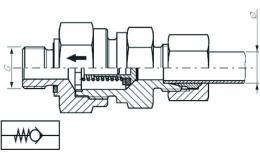 clapet anti-retour M12 x 1.5 x 8MM od ld RVZ 8 lmwd walterscheid hydraulique compres