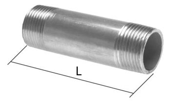 Nipple PN 16 Double Nipple With Cylindrical Thread Stainless Steel