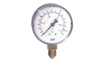 Manometer verticaal Ø 40, 50, 63 mm, klasse 2.5